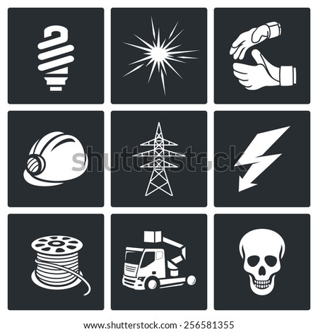 Electrical Company Icons set  - stock photo