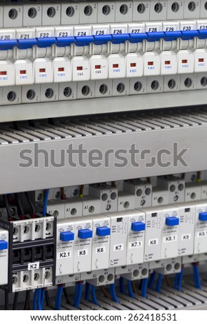 Electrical components - stock photo