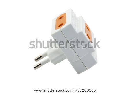 Electric Plug Electrical Outlet On White Stock Photo 738955792 ...