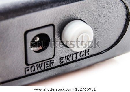 Electrical connector interface. Photo Close-up - stock photo