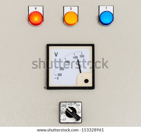 Electrical control panel for water pump in the industry plant. - stock photo