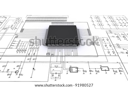 electrical design - stock photo