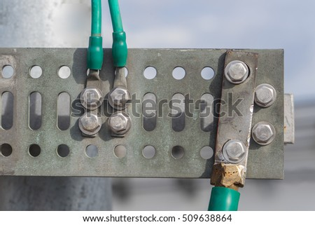 Electrical Ground Wires Connect Common Ground Stock Photo & Image ...