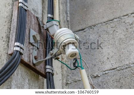 Electrical hazards - stock photo