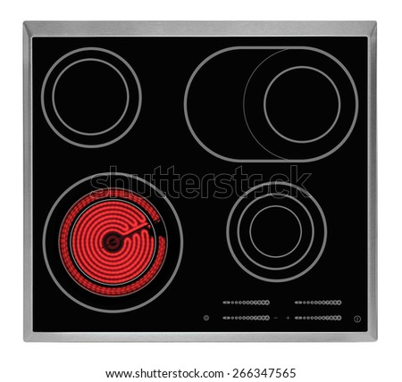 Electrical hob isolated - stock photo