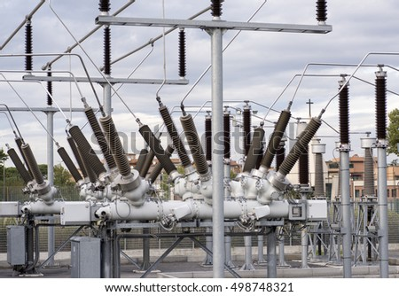 electrical insulators and other details in a power station