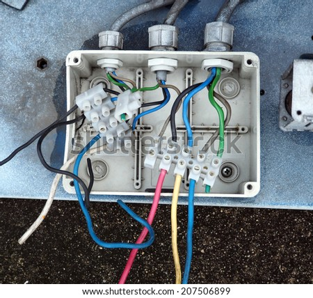 electrical junction box with galvanized conduit pipe connection