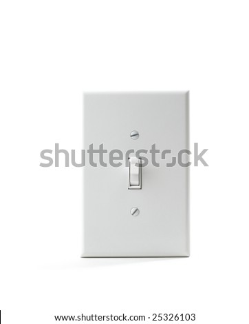 Electrical light wall switch - stock photo