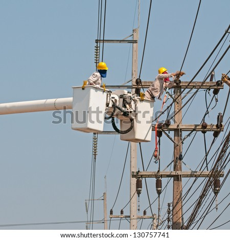 Electrical maintenance - stock photo