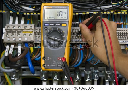 Electrical measurement. - stock photo