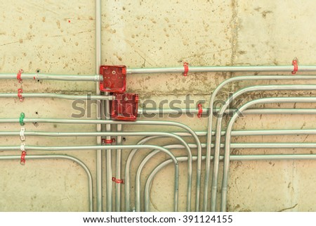 electricity distribution stock images royalty images electrical network installation on ceiling floor