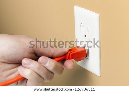 Electrical plug - stock photo