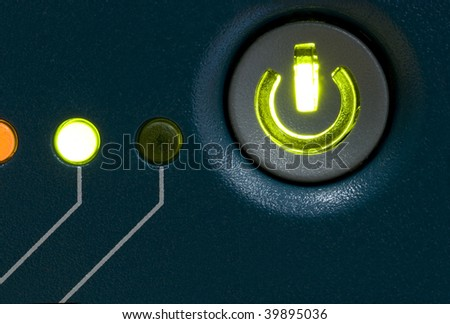 Electrical Power Button - stock photo