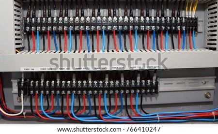 electrical power circuit control wires cable stock photo 100 legal rh shutterstock com house wiring fuse box home electrical wiring fuse box