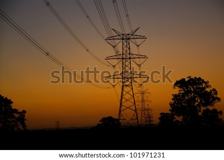 Electrical power lines - stock photo