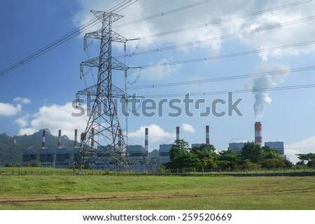 Electrical power plant with transmission system