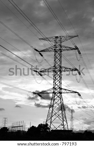 Electrical Power Ranger - stock photo