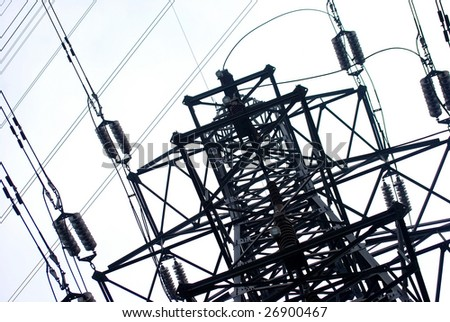 Electrical pylon - stock photo