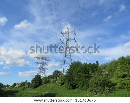 Electrical Pylons  - stock photo
