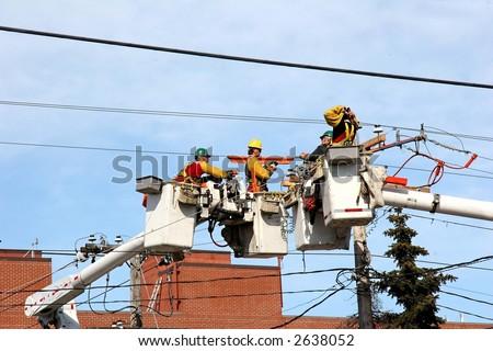 Electrical Repair - stock photo