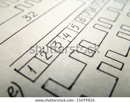 Electrical scheme on paper. Students books. - stock photo