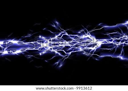Electrical sparks on a black background