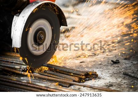Electrical steel grinding wheel  - stock photo