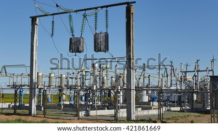 Electrical substation outside the city