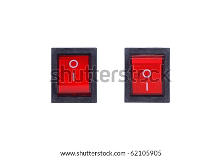 electrical switch on and switch off - stock photo