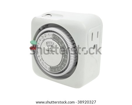Electrical timer isolated on white background