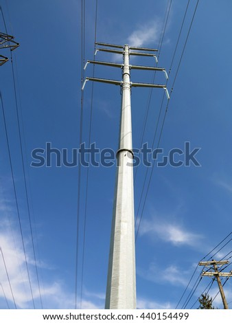 Electrical tower for power lines. - stock photo
