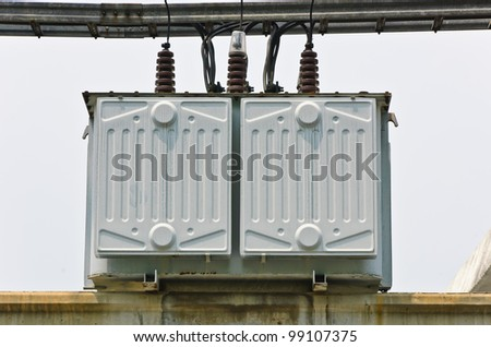 Electrical transformer station - stock photo