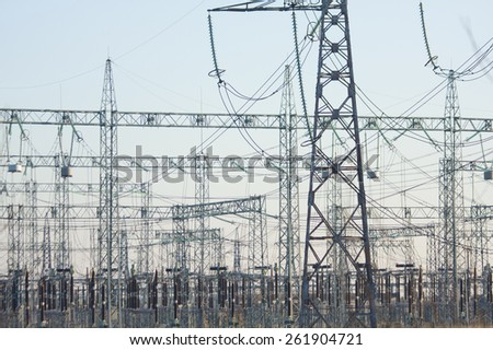 electrical transmission substation distributional network