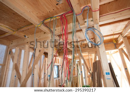 Electrical Wiring Work Housing Construction Stock Photo (Edit Now ...