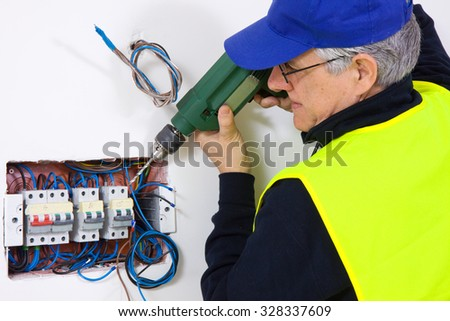 electrician - stock photo
