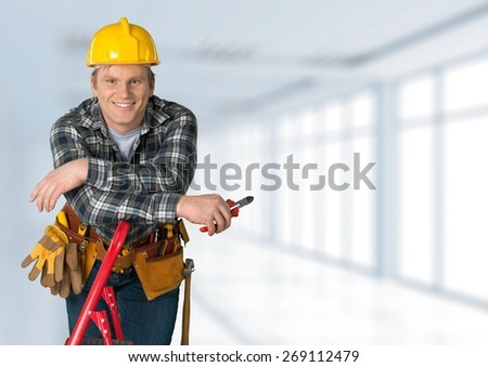 Electrician, Manual Worker, Construction Worker. - stock photo