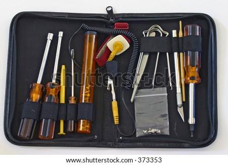 Electrician's Tool Kit - stock photo