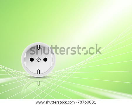 Electricity and energy background - stock photo