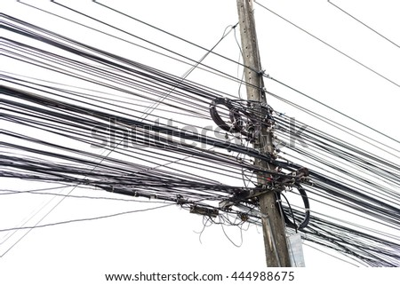 Electricity cable,telephone wire and fiber optic wire of internet