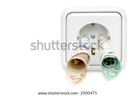Electricity Costs (Front View) - stock photo