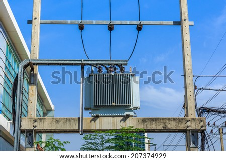 Electricity Distribution Transformer.