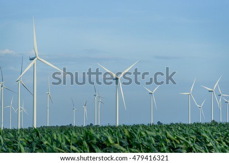 Electricity from wind turbines