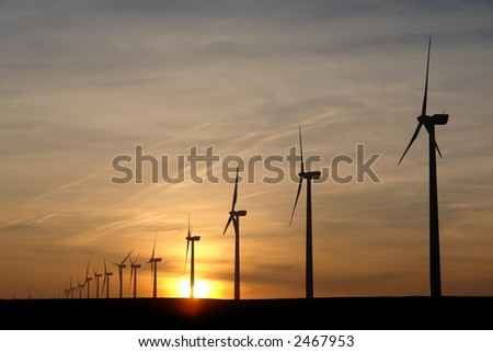 Electricity generating windmills