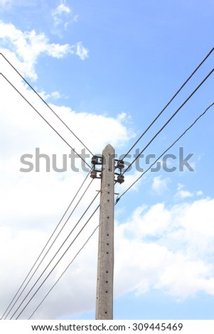 Electricity post at the country Thailand