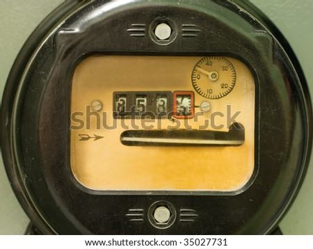 Electricity supply meter power industry equipment - stock photo
