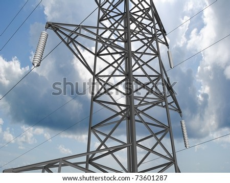 Electricity tower. - stock photo
