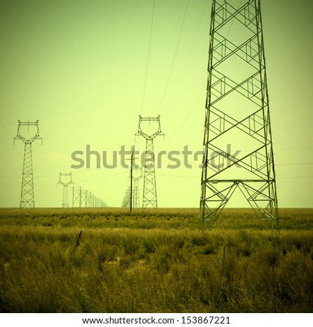Electricity tower outskirts