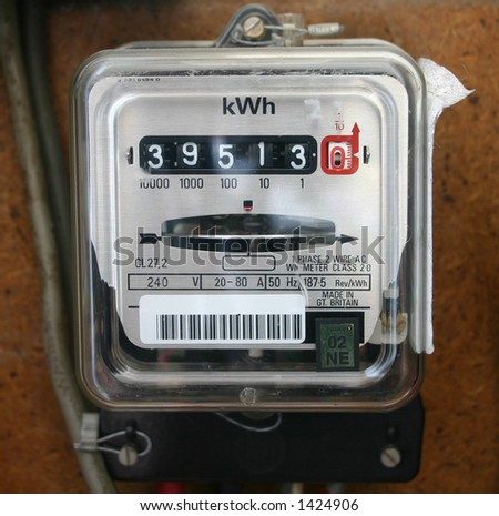 electricity usage meter - stock photo