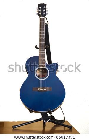electro-acoustic guitar - stock photo