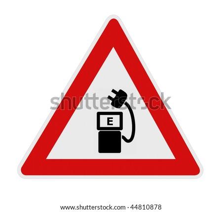 Electro car charging station - stock photo
